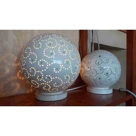 Terrissa cerámica - Lampara bola pequeña