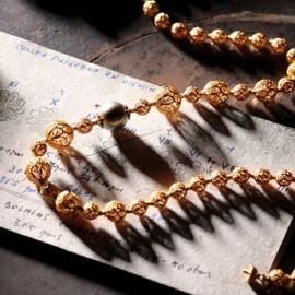 FiligranaGallery - Collar de Cuentas de Filigrana y hermosa Perla australiana blanca