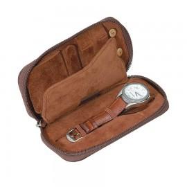 Estuche / Joyero-relojero de viaje para hombre