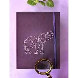 "Ouro - Sketchbook hecho a mano, motivo ""Elefante"""