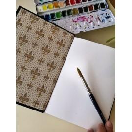 "Ouro - Sketchbook hecho a mano, motivo ""Lobo dorado"""