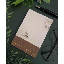 Ouro - Libreta Japonesa 'Vuelo Afortunado' hecha a mano